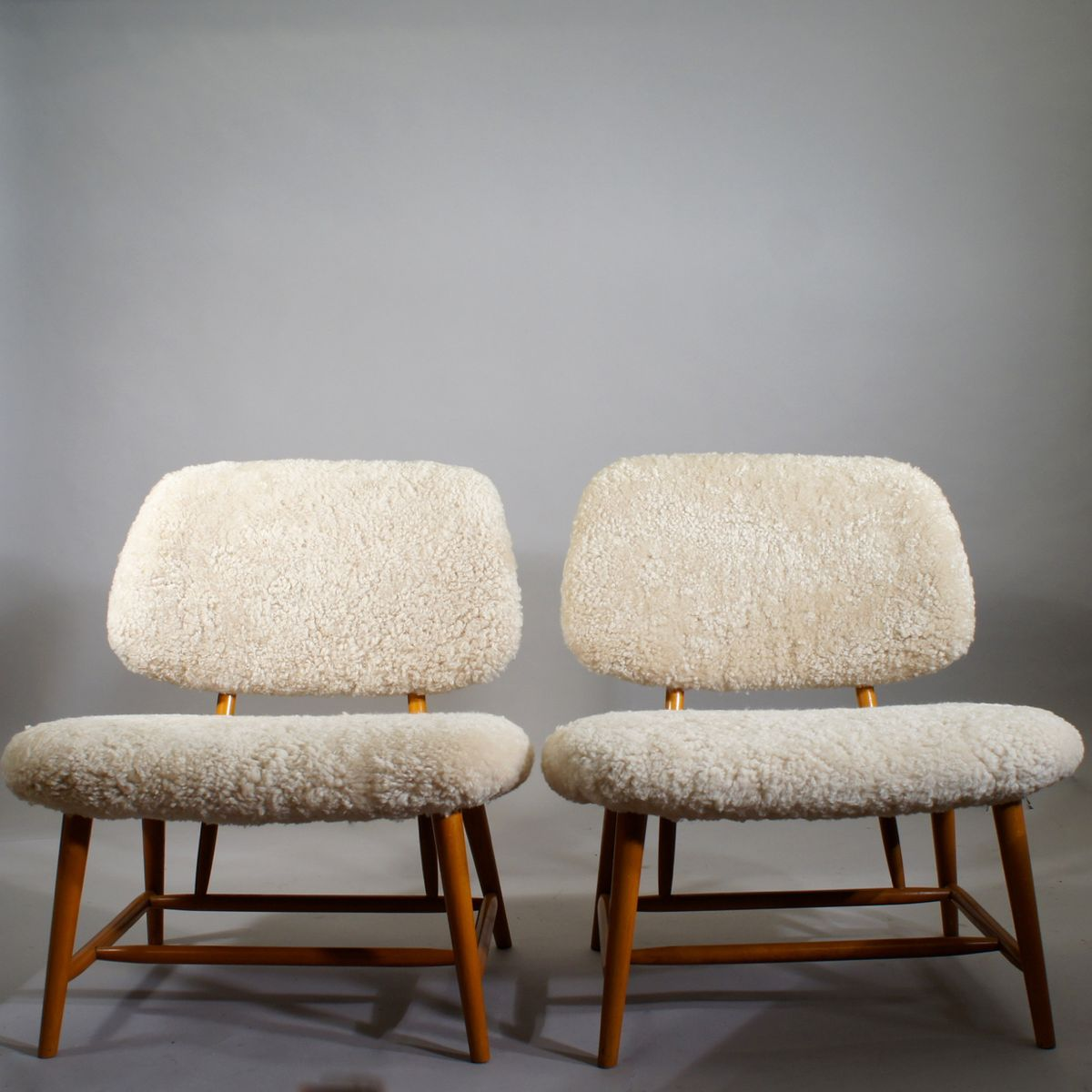 Vintage Te-Ve Lounge Chairs by Alf Svensson for Ljungs Industrier, Set...