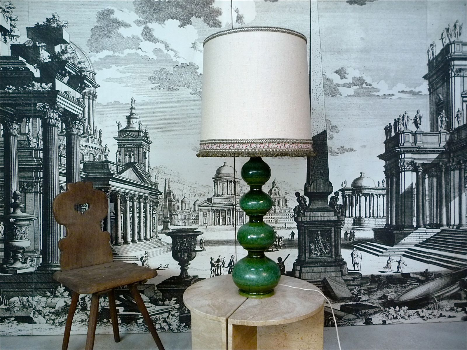 Large German Ceramic Table lamp from Kaiser Leuchten, 1960s
