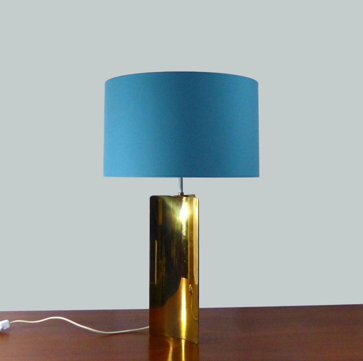 Große Tischlampe aus goldenem Messing, 1970er
