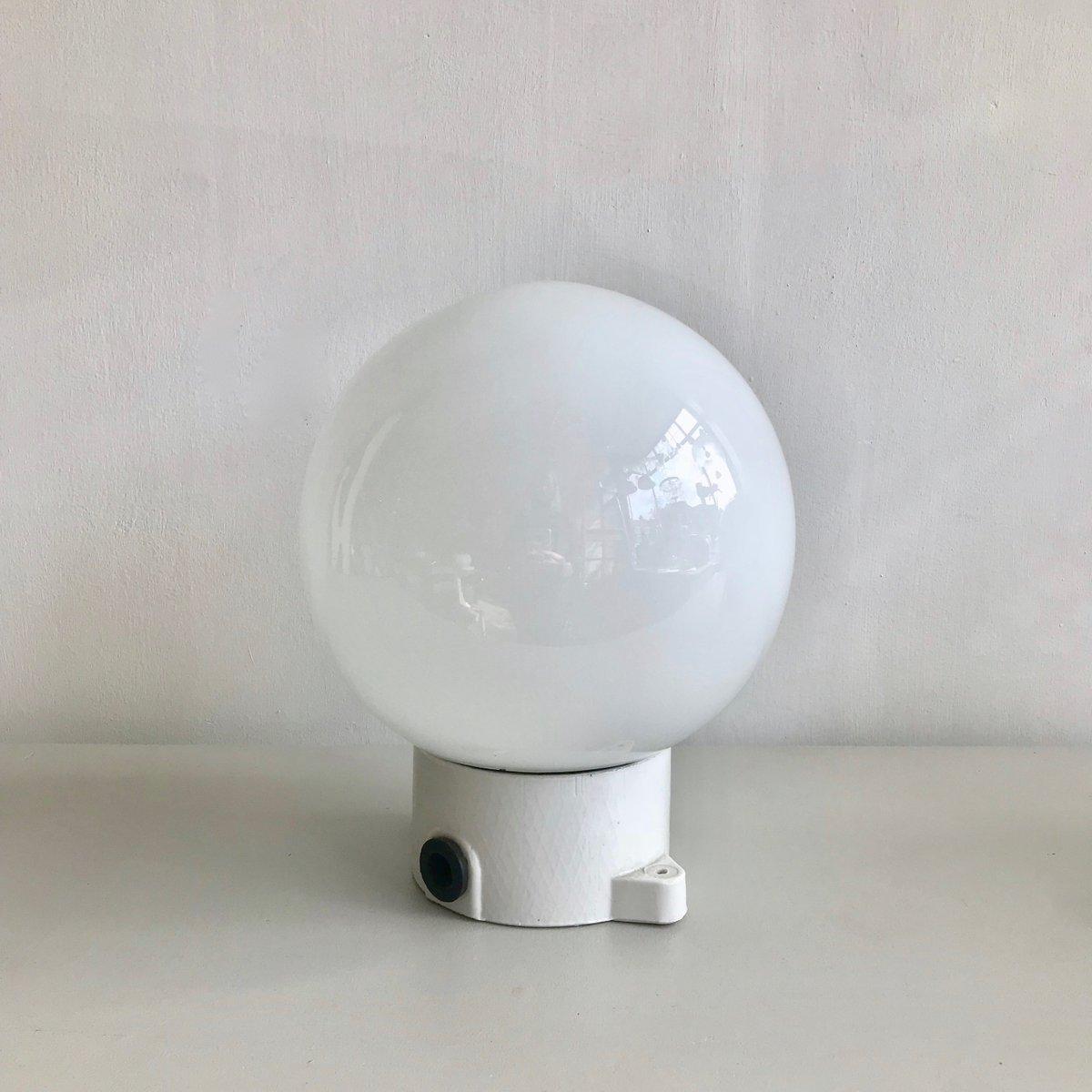 Vintage Ceramic & Opaline Ceiling Lamp or Sconce