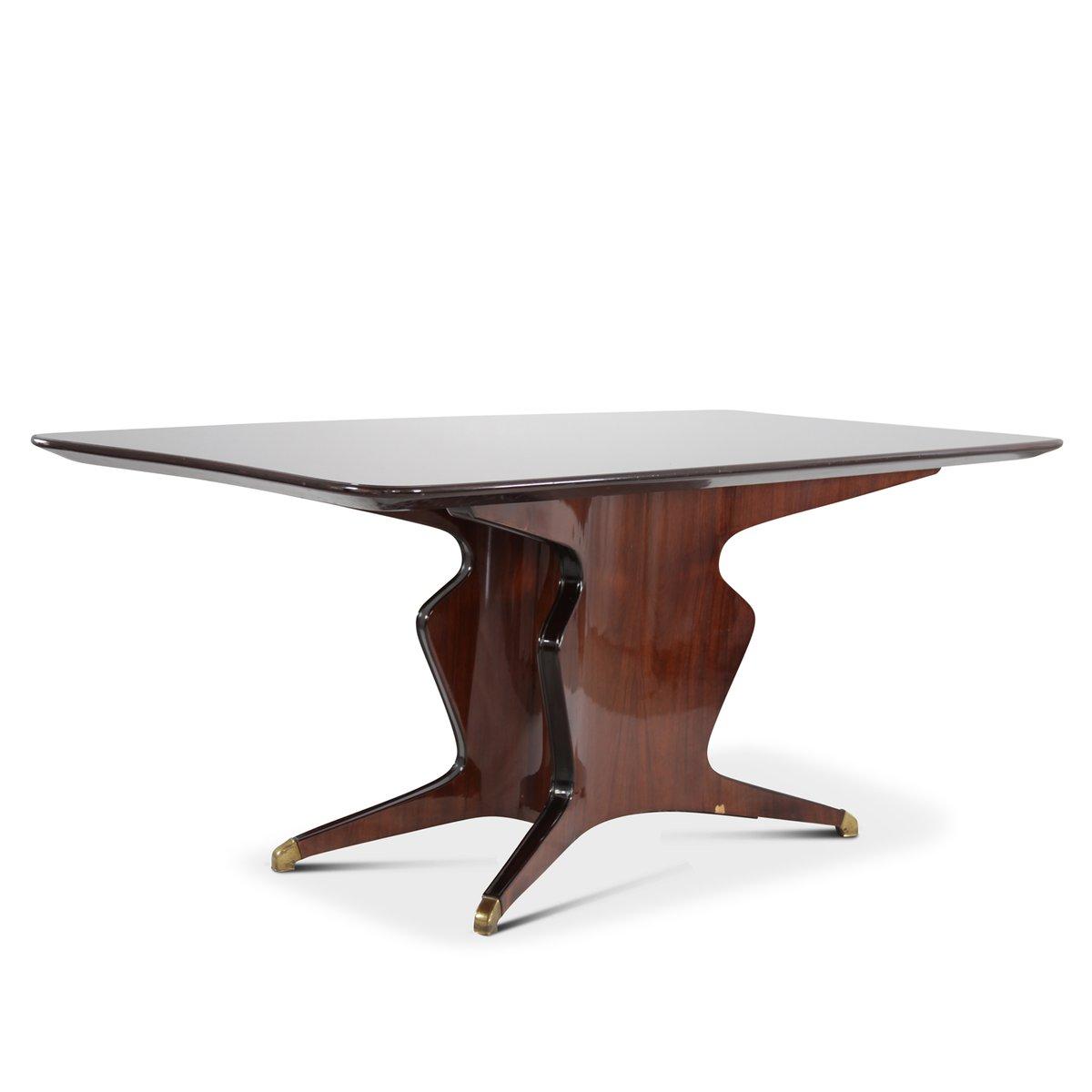 Tisch aus Mahagoni von Fossati, Attilio & Arturo, 1950er
