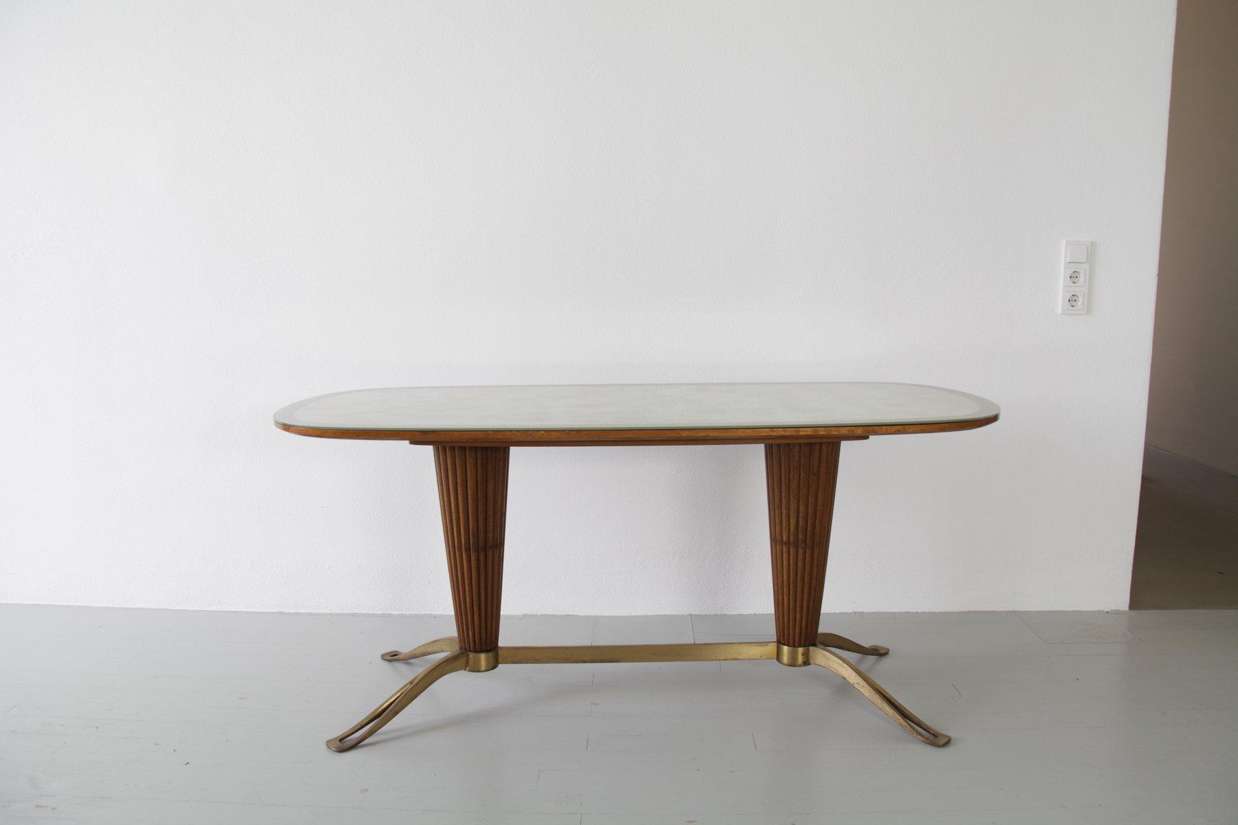 Italienischer Tisch mit Säulen-Fuß, 1950er
