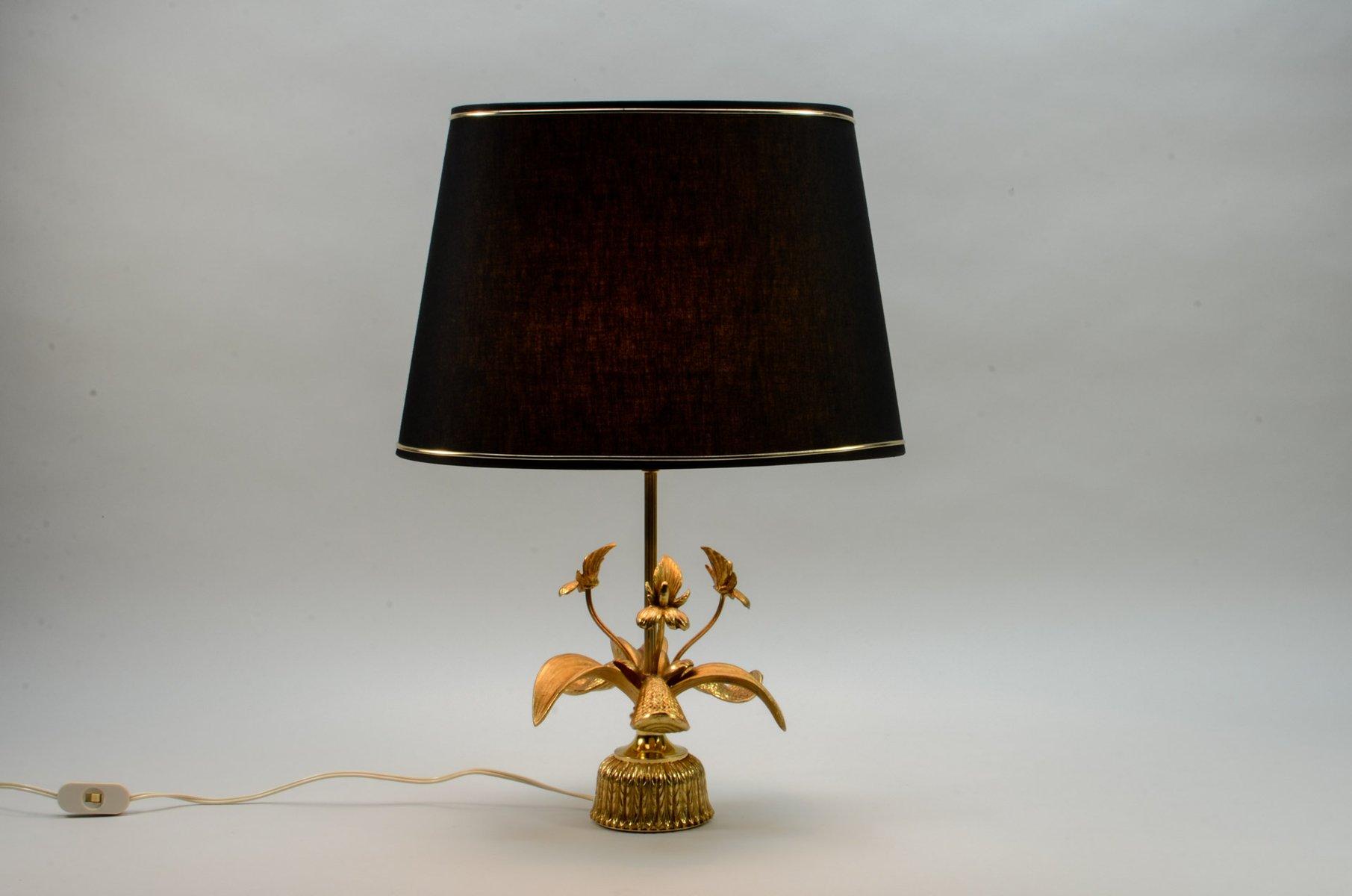 Mid Century Brass Fleur De Lis Table Lamp 1960s For Sale At Pamono