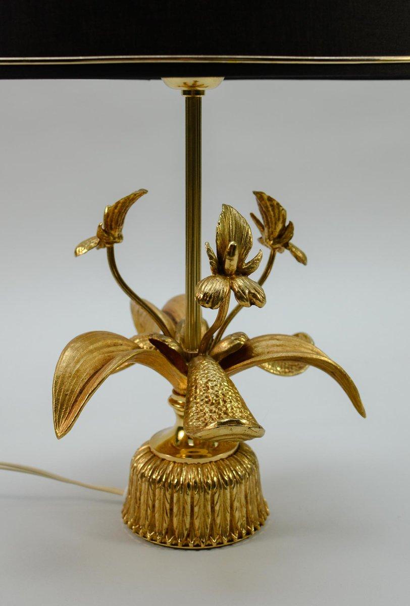 Mid Century Brass Fleur De Lis Table Lamp, 1960s