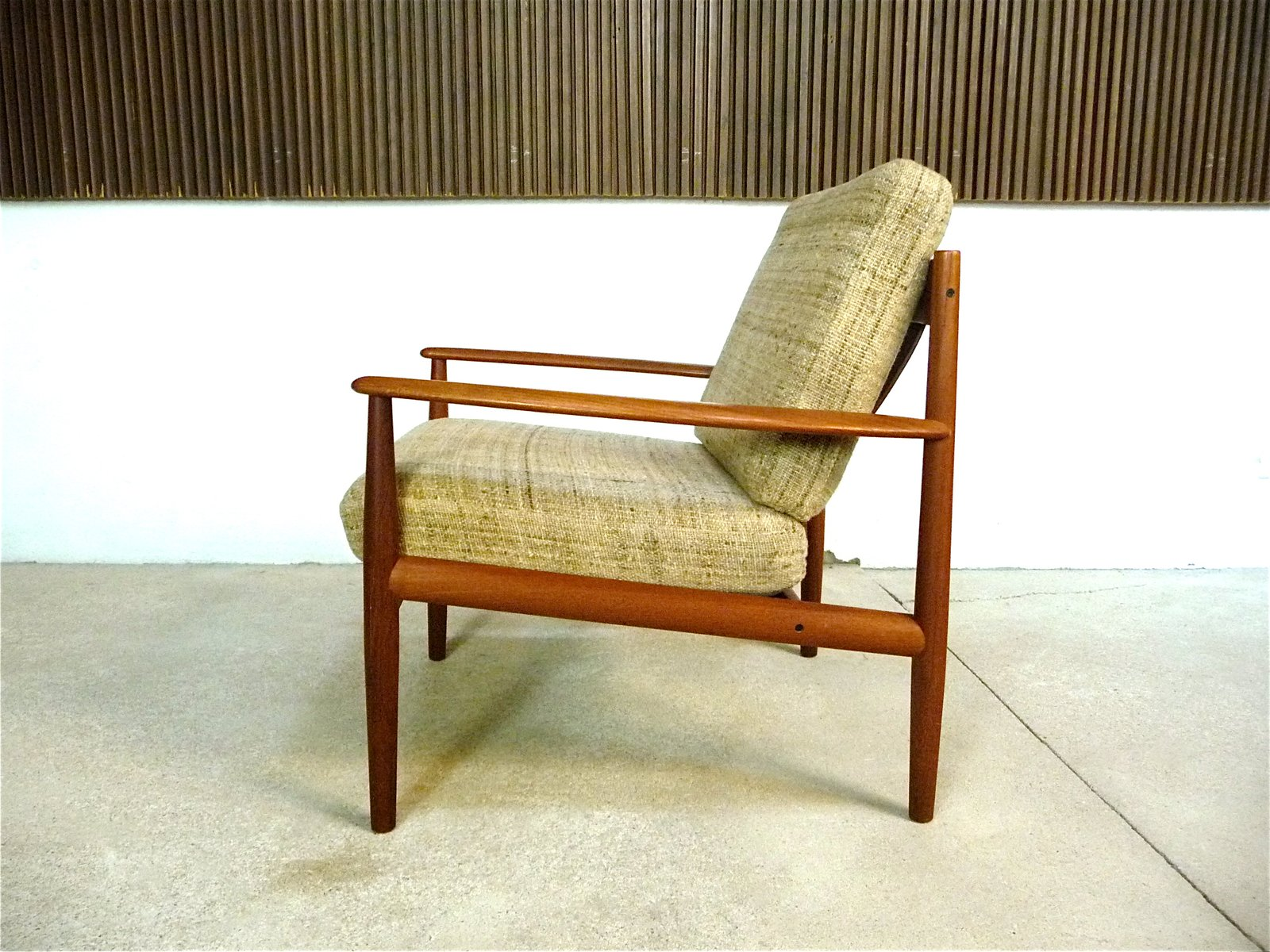 Danish Teak And Wool Easy Chair By Grete Jalk For Cado 1960s Bei