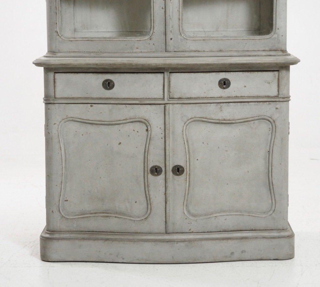 Antique 2 Piece Vitrine Cabinet