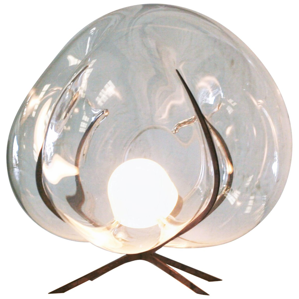 Exhale Crystal Glass Standing Light by Catie Newell