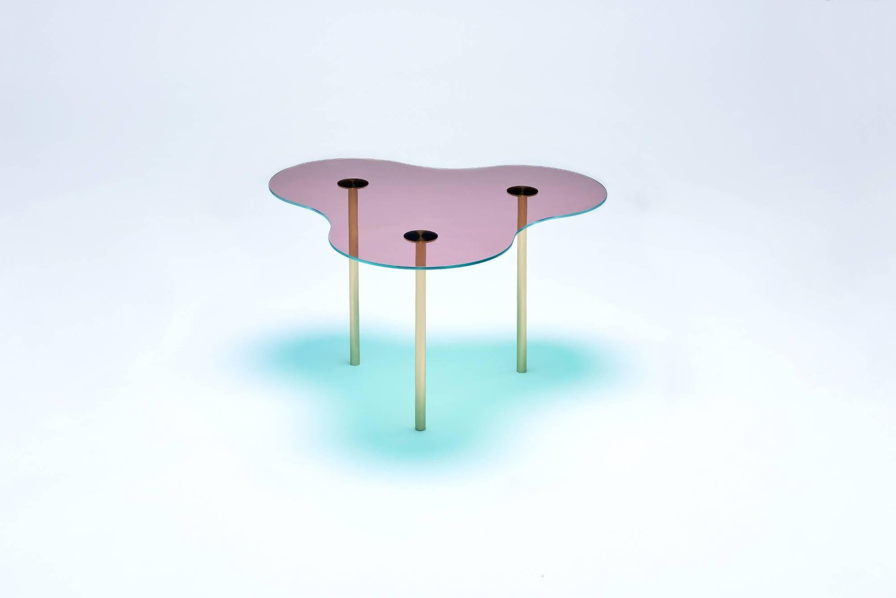 Set Of 3 Glass Tables: Glass Coffee Tables By Sebastian Scherer, Set Of 3 For