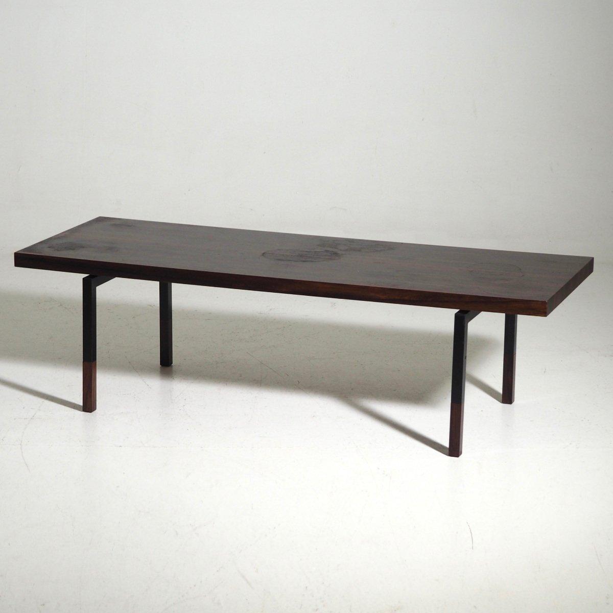 Rosewood & Steel Coffee Table, 1960s