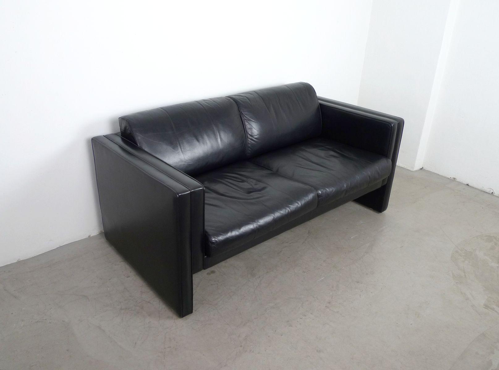 ledersofa von j rgen lange f r walter knoll 1980er bei pamono kaufen. Black Bedroom Furniture Sets. Home Design Ideas