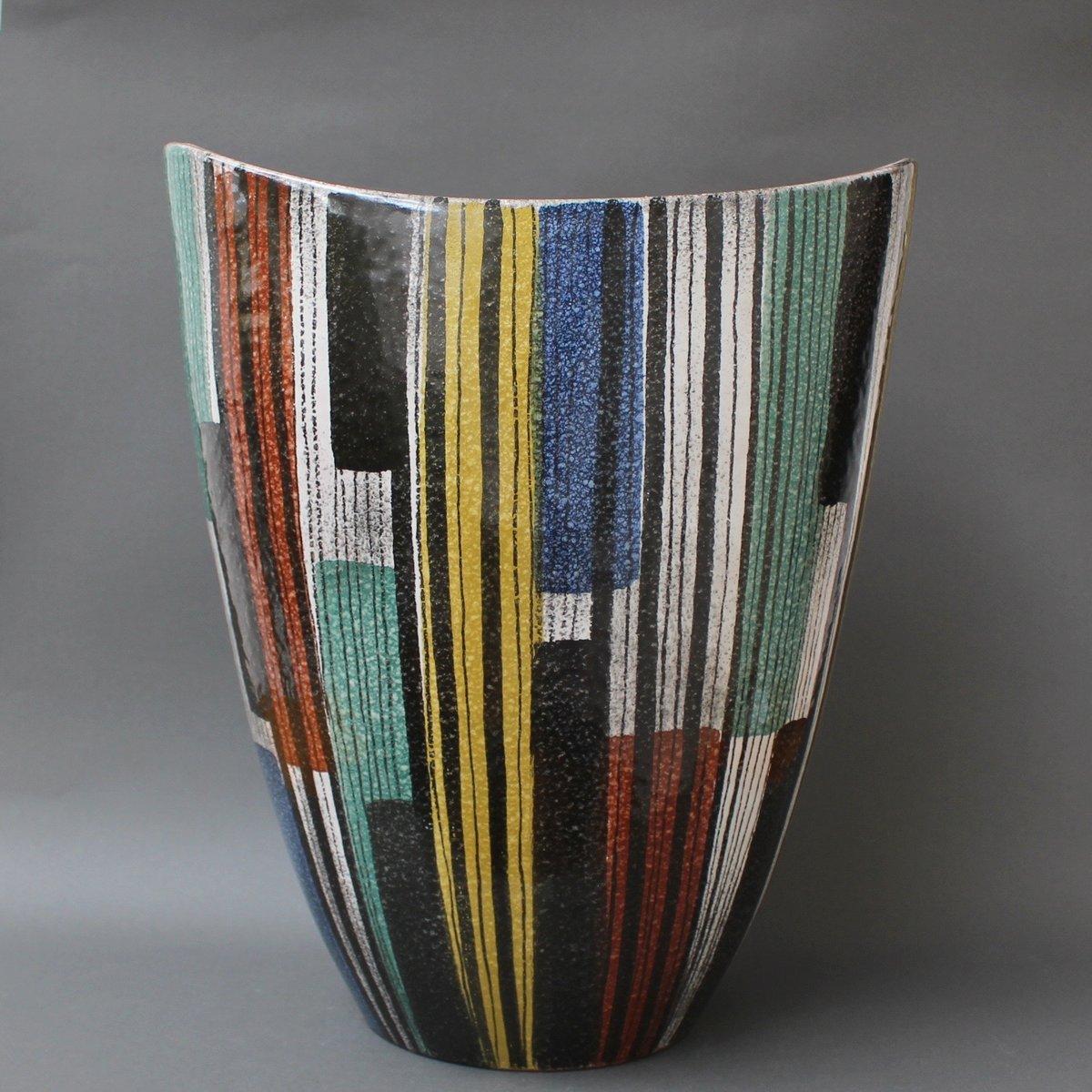 Large Italian Ceramic Vase 1950s
