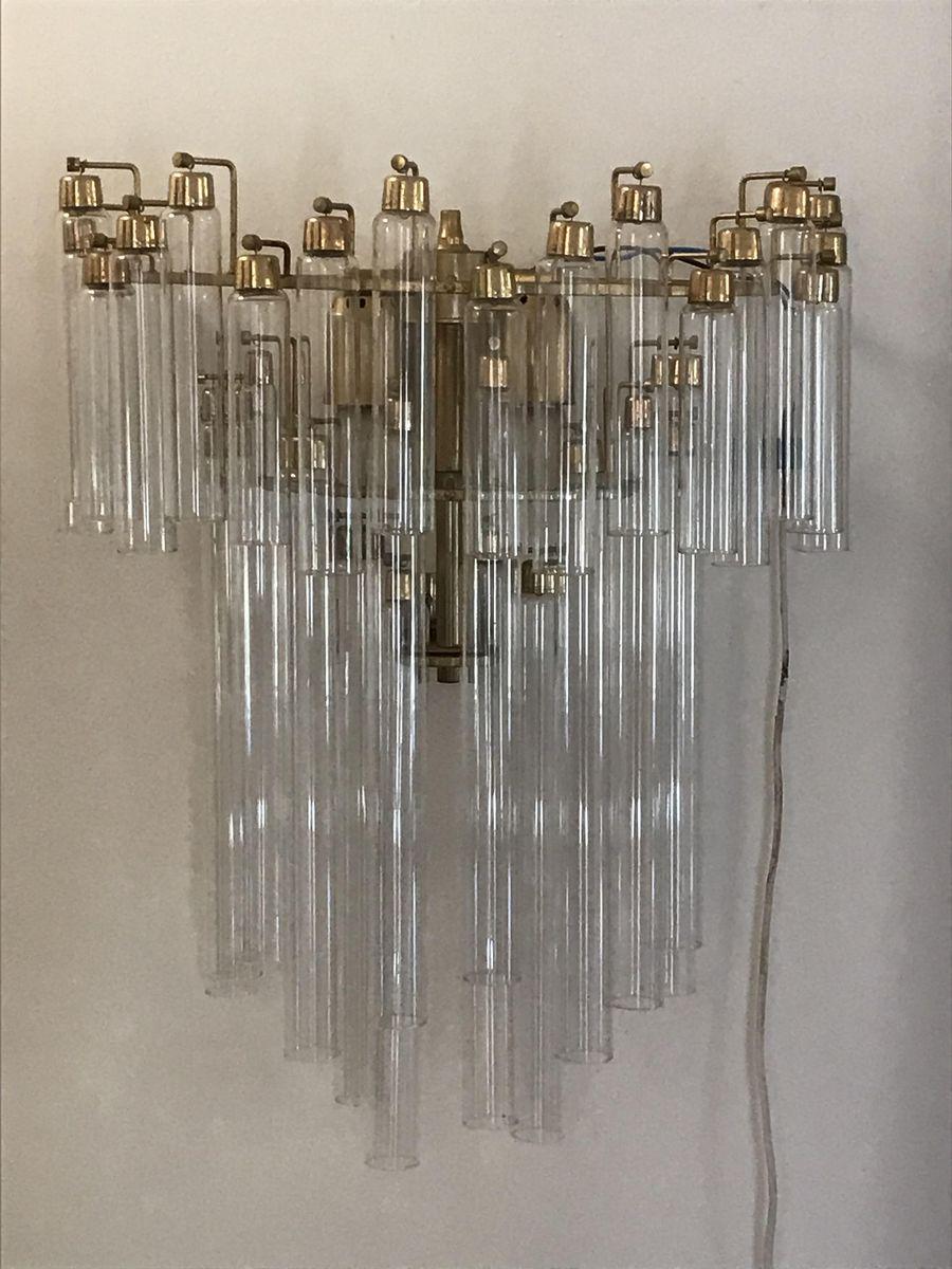 Tronchi Wandbeleuchtung aus Glas von Venini, 1960, 2er Set