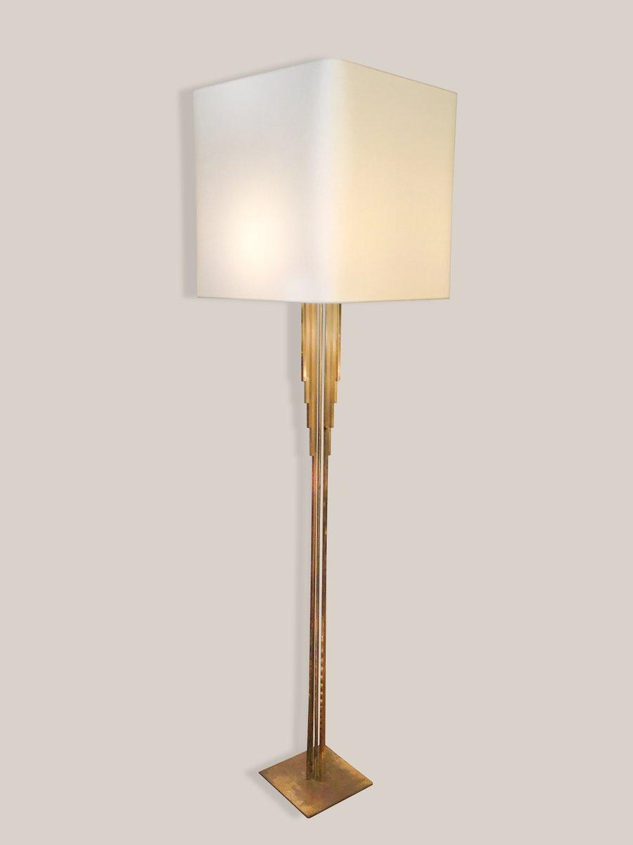 Vintage Stehlampe aus vergoldetem Messing