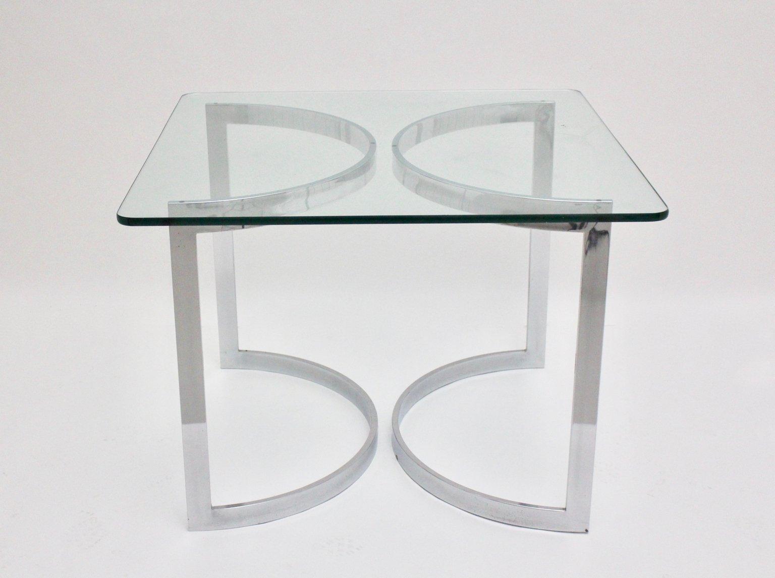 Esstisch aus Chrom und Glas von Merrow Associates, 1970er