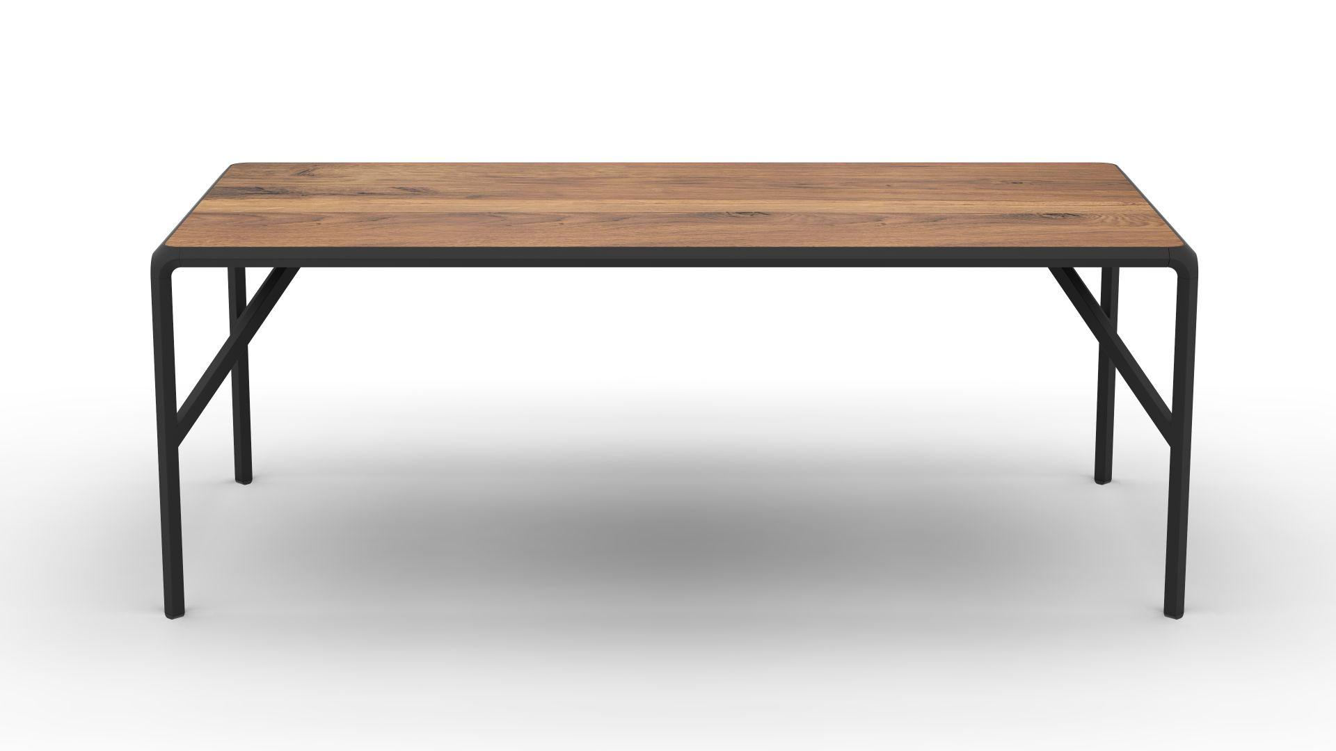Rhomb Dining Table In Oak Steel From Felix Monza