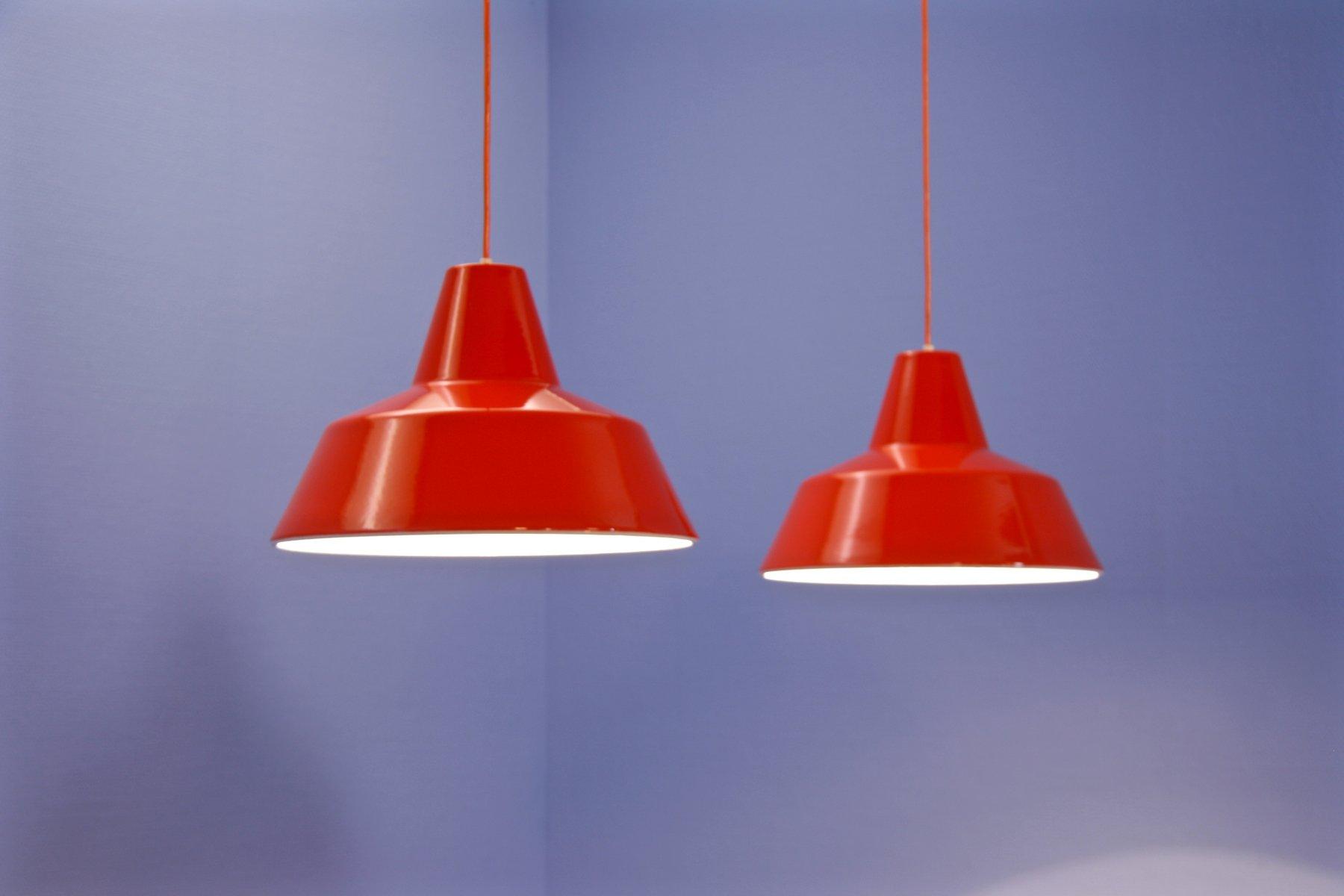 Danish Enamel Pendants from Louis Poulsen, 1960s, Set of 2