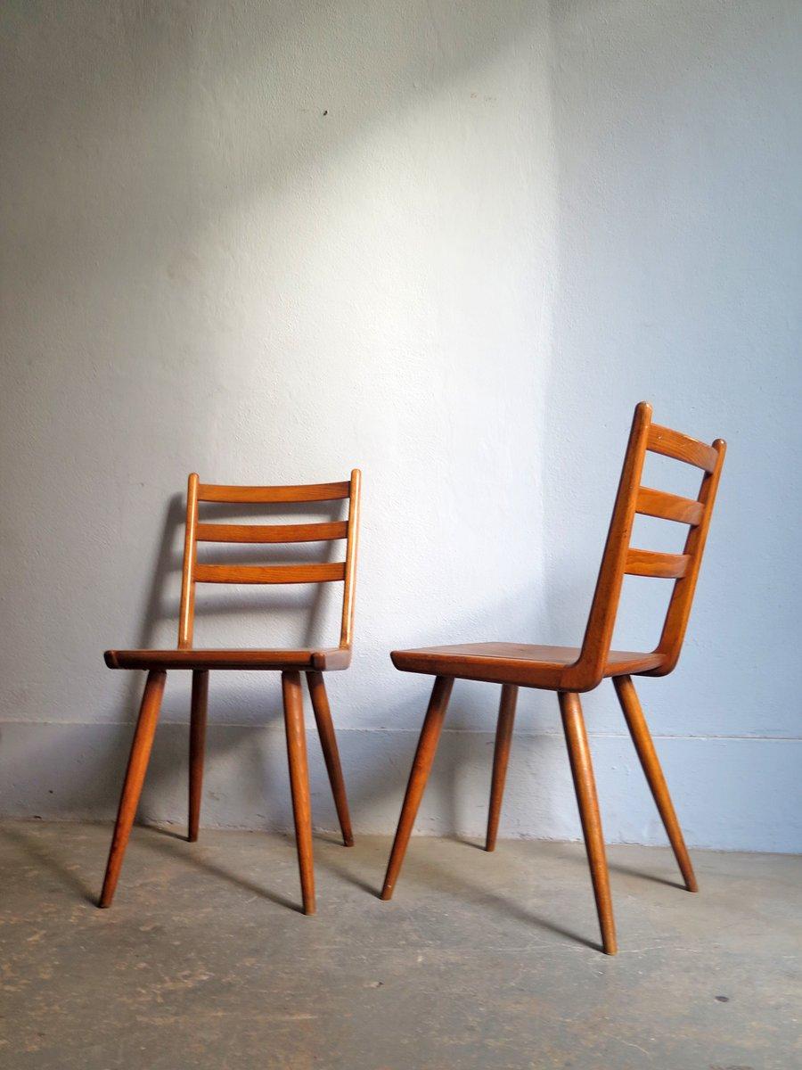 Etonnant Vintage Boomerang Dining Chairs, 1950s, Set Of 4