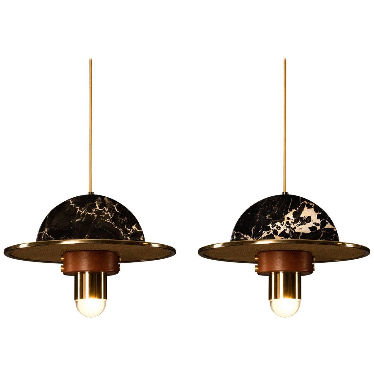 Hängelampen mit Lampenschirmen von Masquespacio, 2er Set