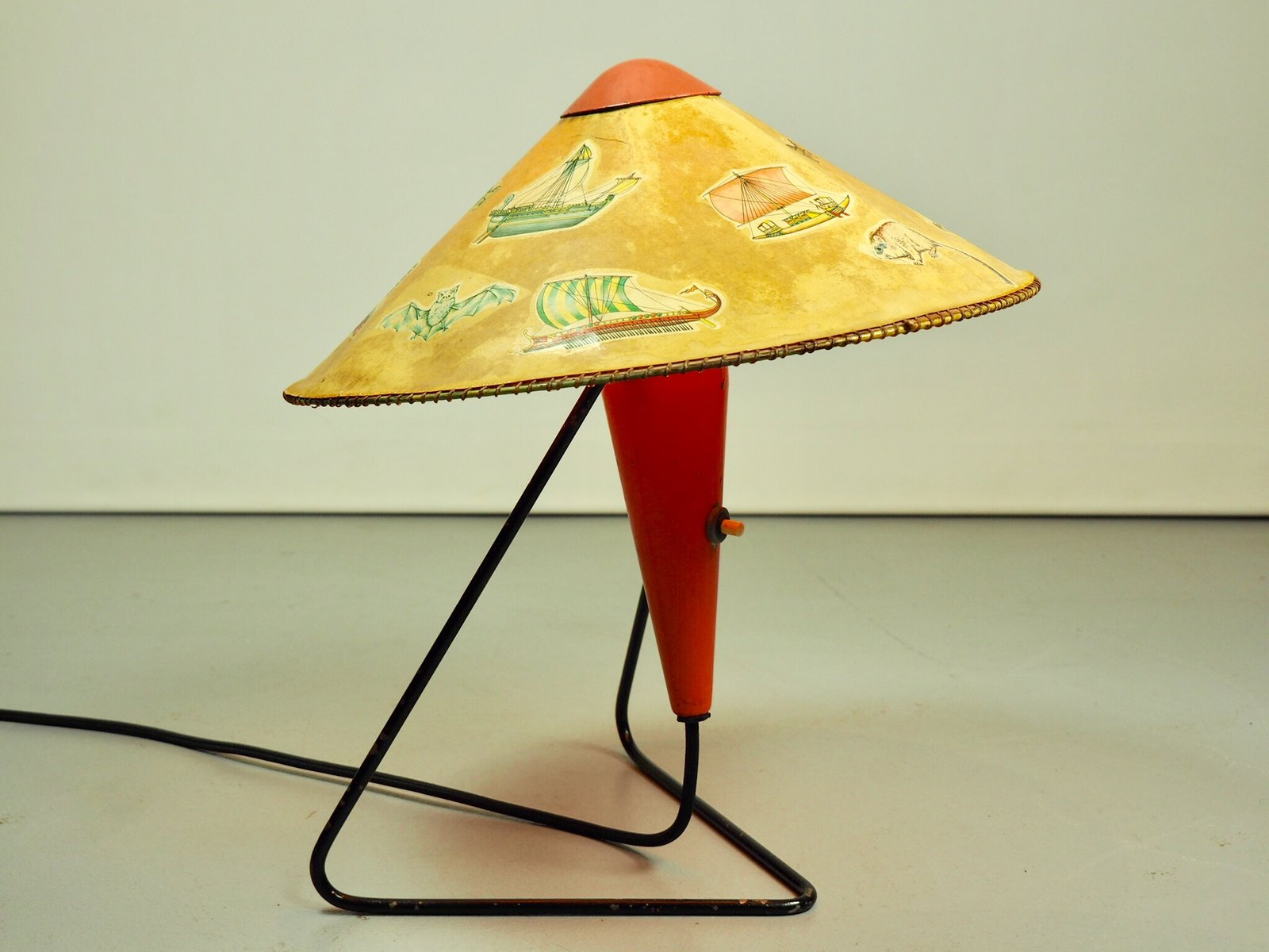 String Tischlampe von Helena Frantova für Okolo, 1950er