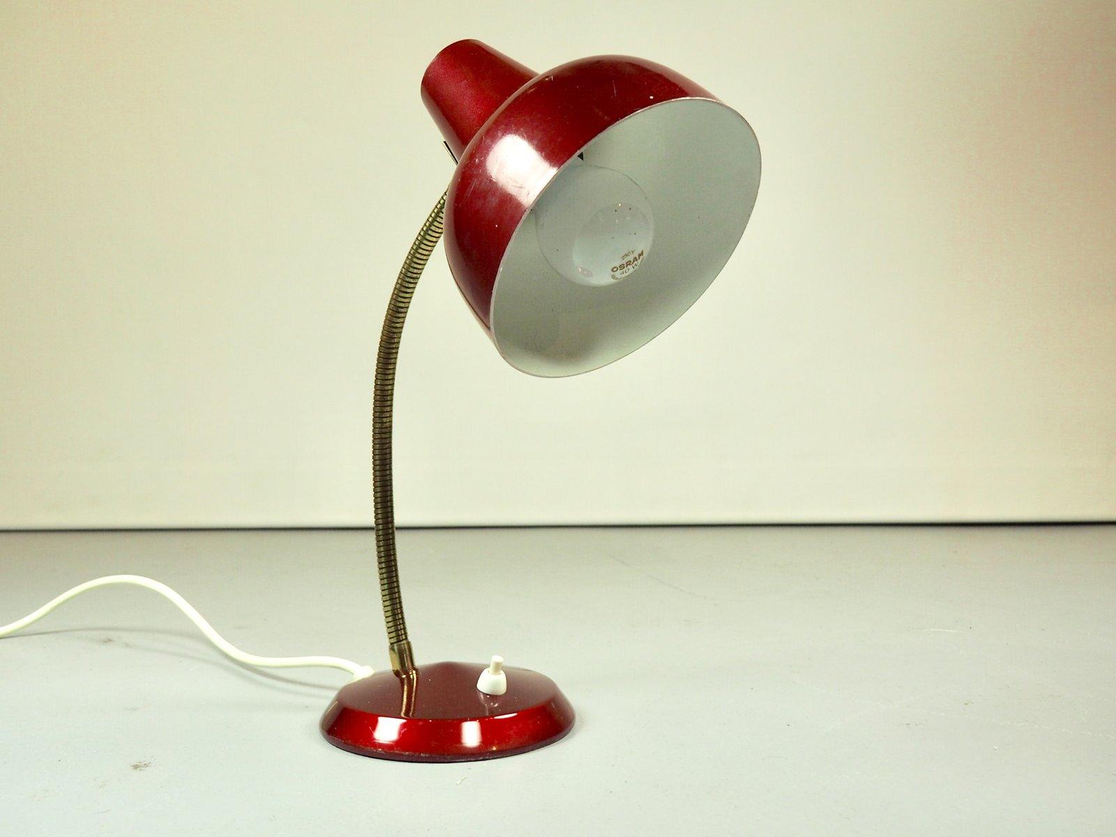 Tischlampe aus Messing & Metall, 1960er