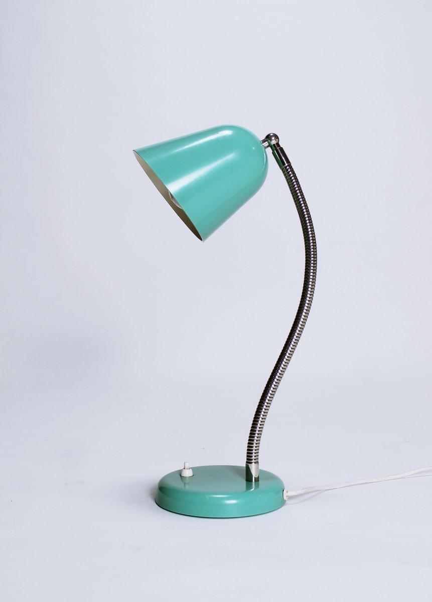 Lampe De Bureau Verte A Col De Cygne Vintage 1960s En Vente Sur Pamono
