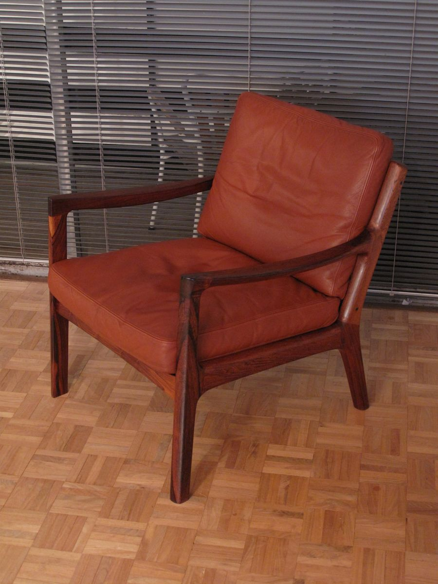 Rosewood & Leather Senator Chair by Ole Wanscher for France & Son ...