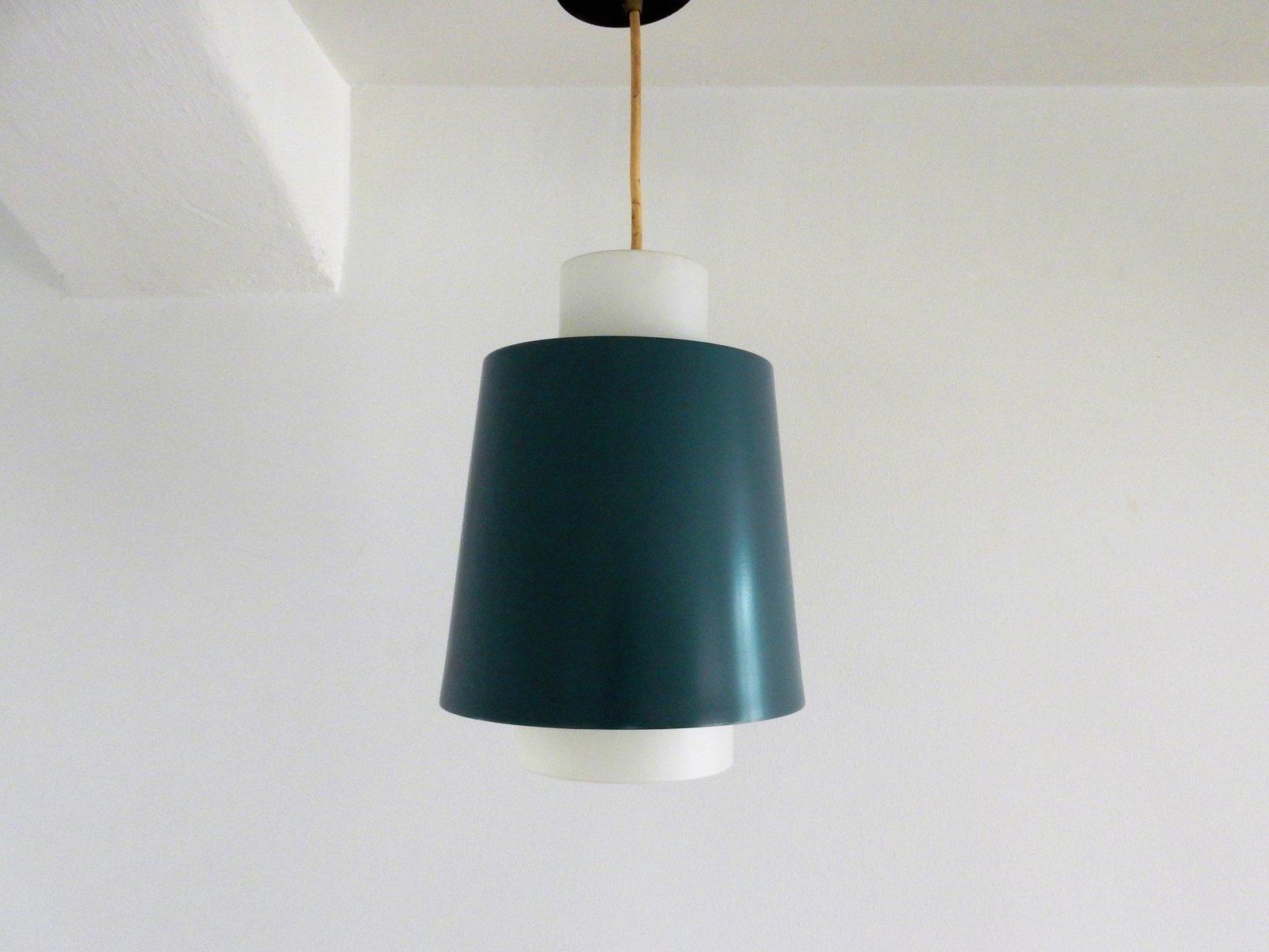 Vintage Opaline Glass Pendant Lamp, 1960s