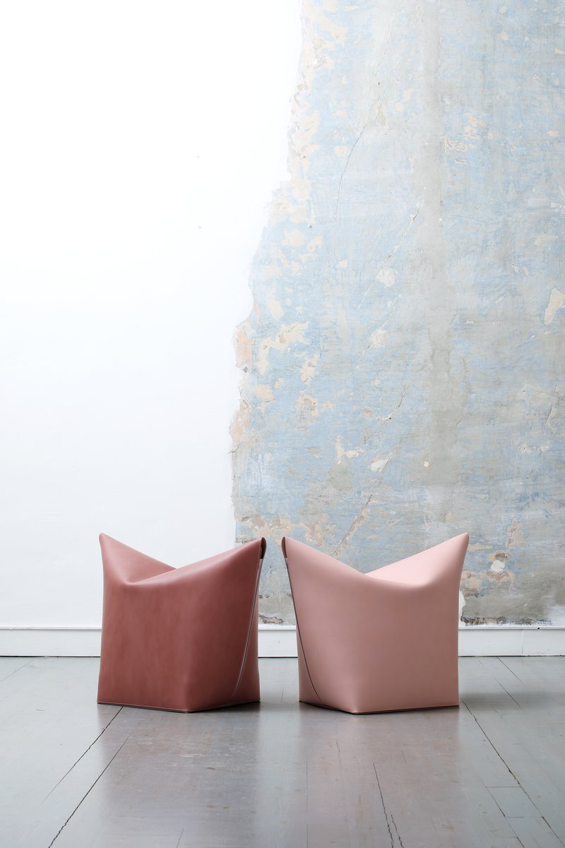 Pouf Brandina.Light Pink Mao Pouf By Viola Tonucci For Tonucci Manifestodesign For