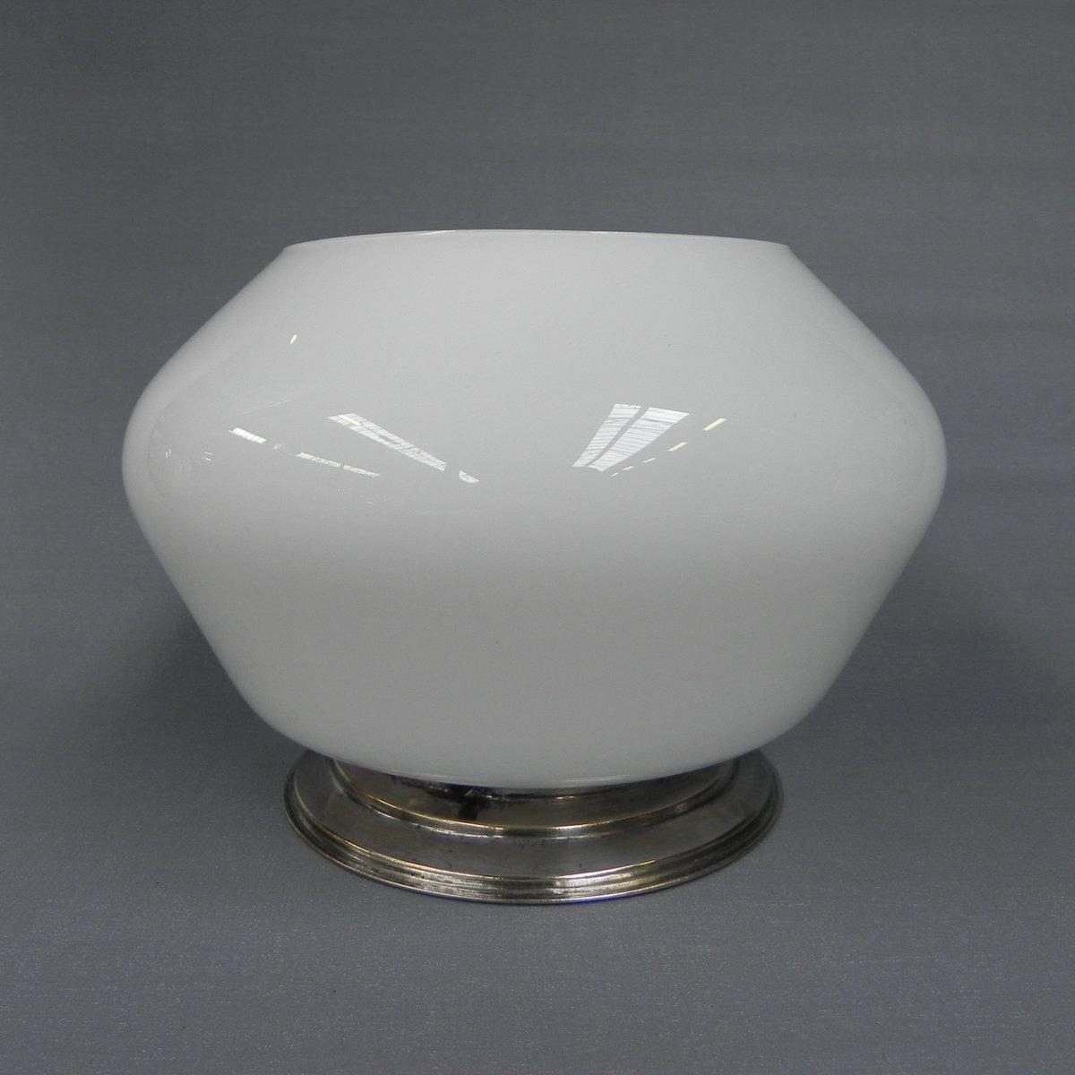 Vintage Art Deco Deckenlampe mit Glasschirm