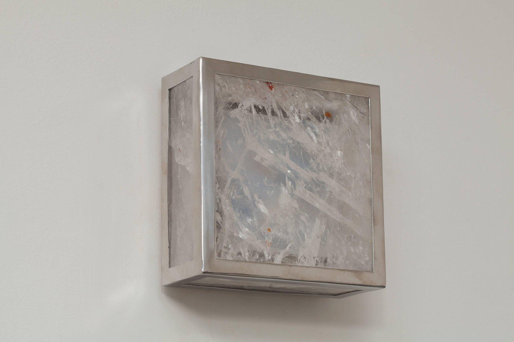 Classic Cube Wandlampen aus Kristallglas & Fels von Demian Quincke, 2e...