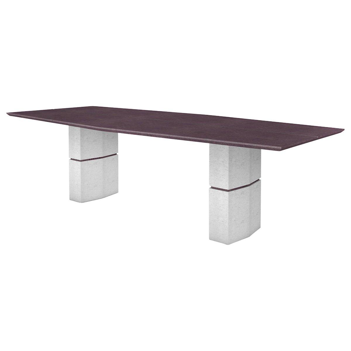 Esstisch mit lila Schieferplatte von Fre?de?ric Saulou