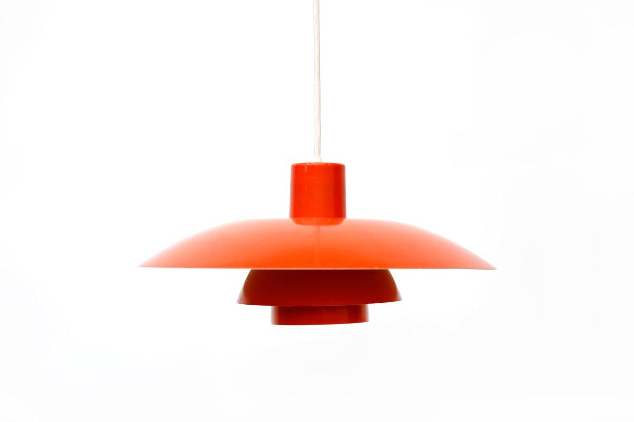 Rote PH4/3 Lampe von Poul Henningsen für Louis Poulsen, 1960er