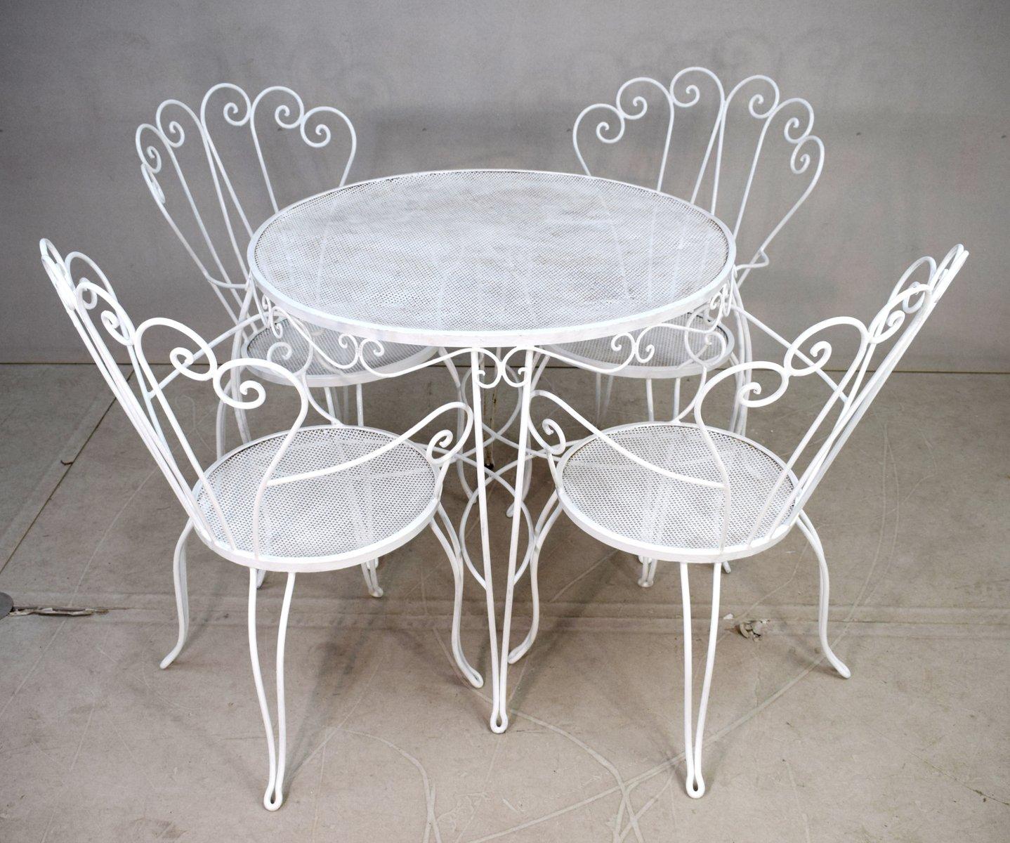 Gartentisch 4 Stuhle 1940er Bei Pamono Kaufen