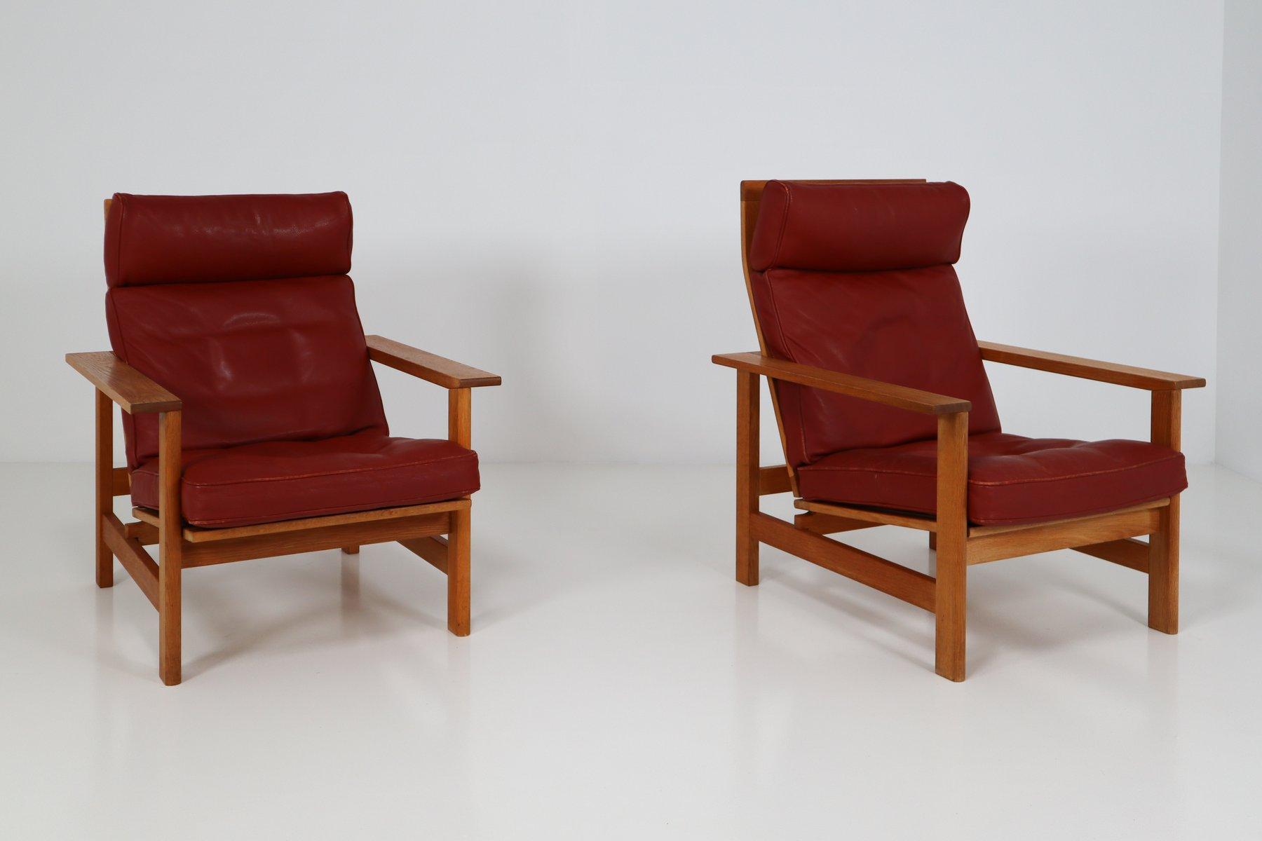 Dänische Sessel in Eiche und Leder von Søren Holst für Frederecia Furn...