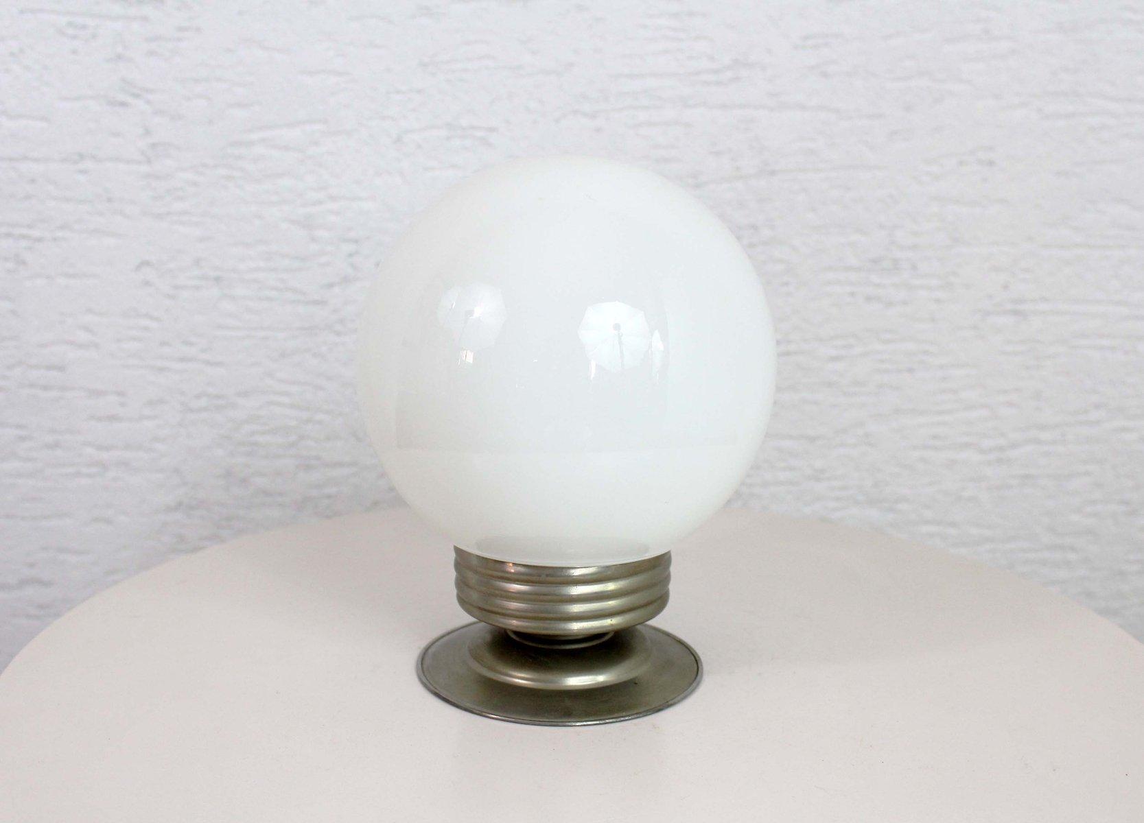 Opalglas Deckenlampe, 1940er