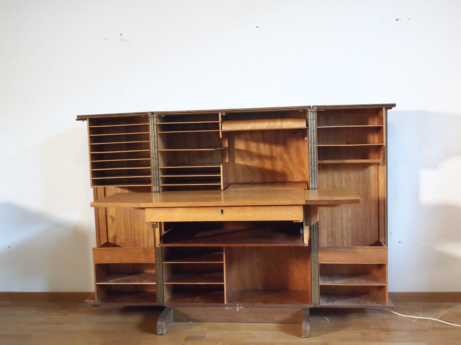 vintage schrank mit verstecktem schreibtisch bei pamono kaufen. Black Bedroom Furniture Sets. Home Design Ideas