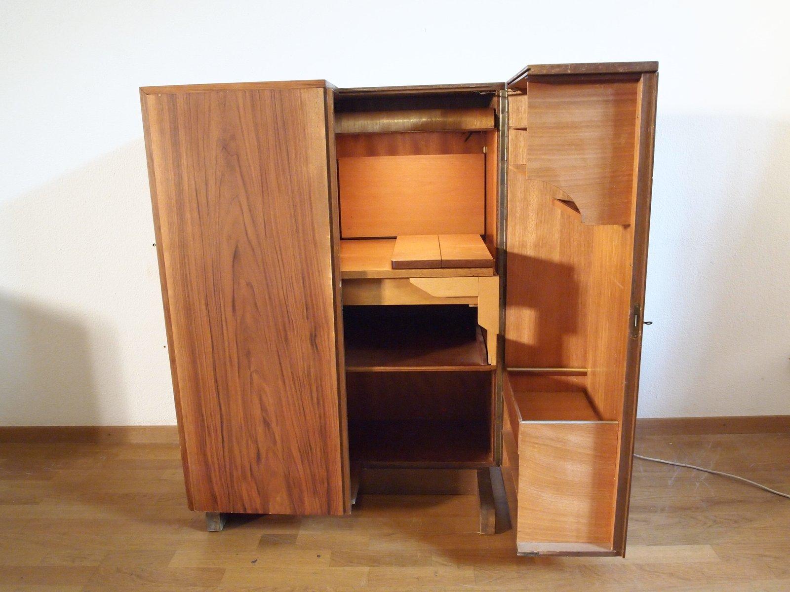 Credenza Con Tavolo A Scomparsa : Mobiletto vintage con scrivania a scomparsa in vendita su pamono