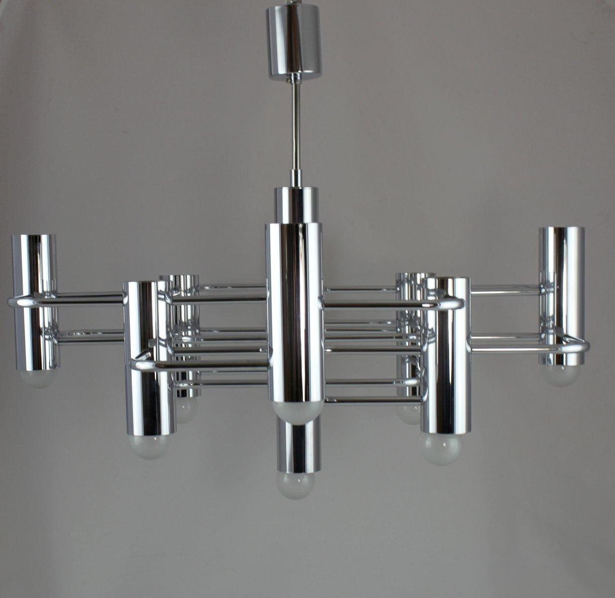 Große Vintage Lampe von Gaetano Sciolari für Boulanger