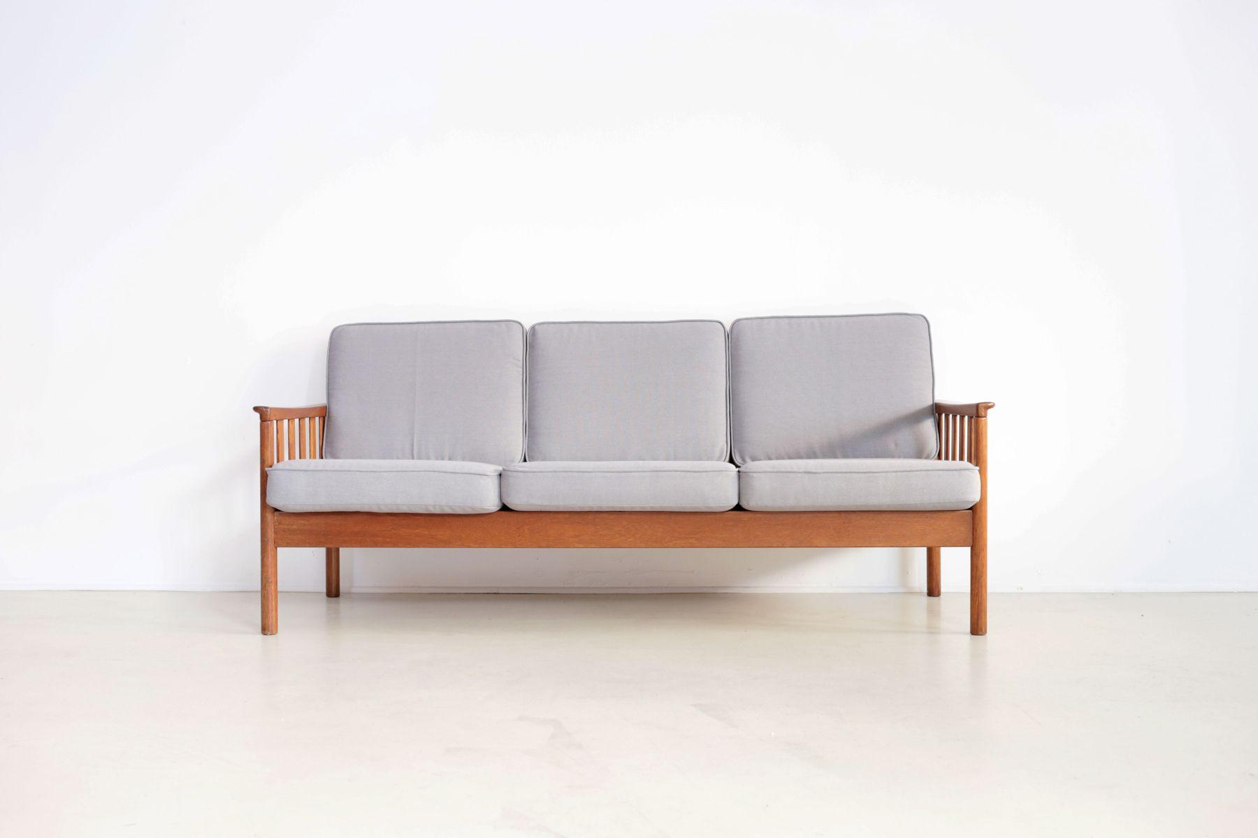 Scandinavian Teak Sofa Bench 1950s