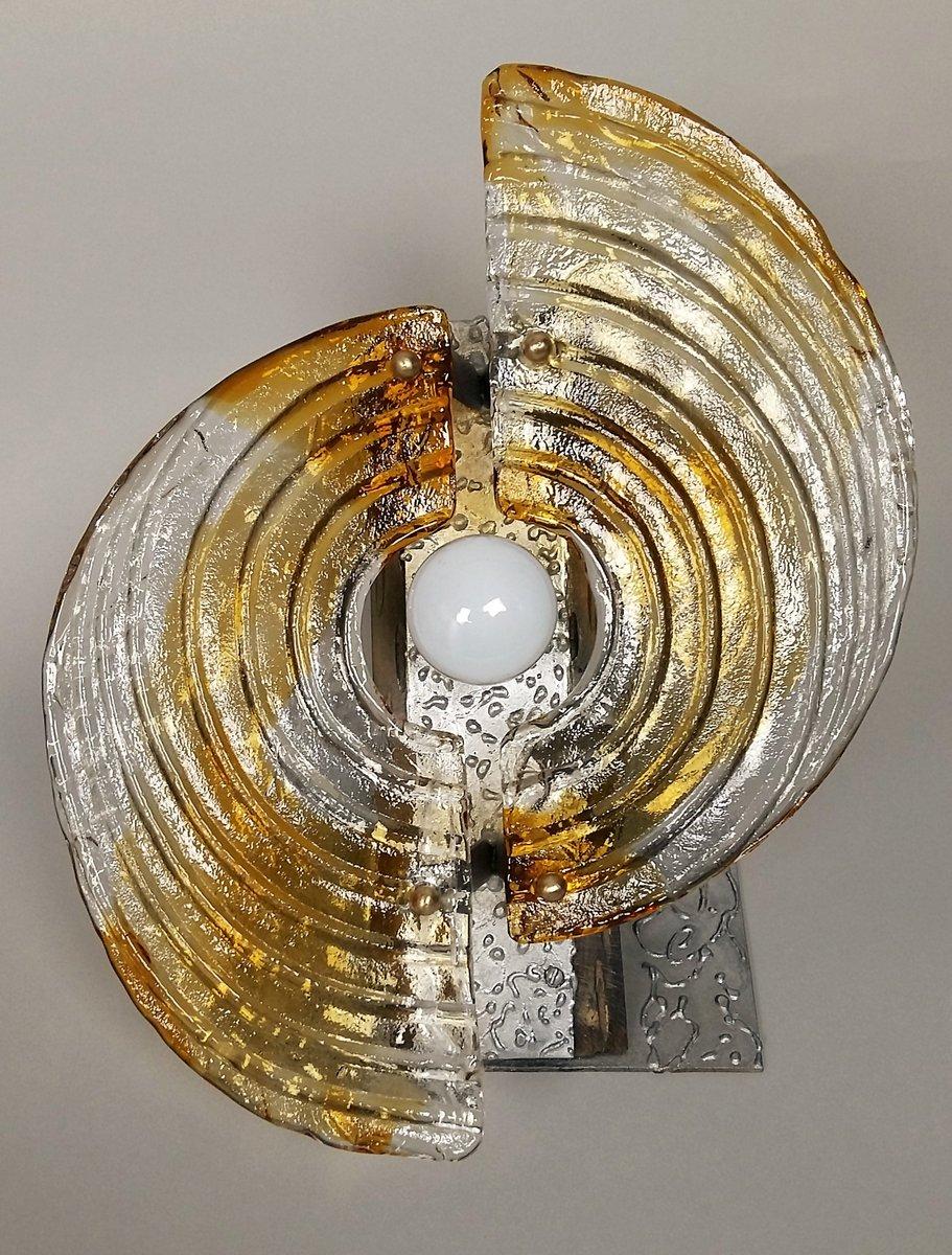 Tisch oder Wandlampe aus Muranoglas von Mazzega, 1970er