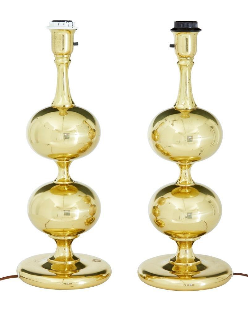 Tischlampen aus Messing von Borens, 1960er, 2er Set