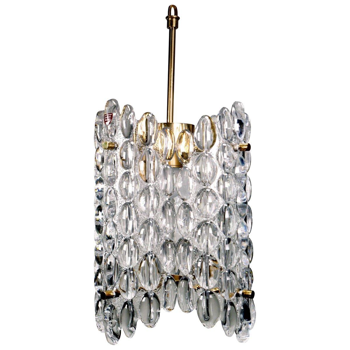 Kronleuchter aus 4-Kristallglasplatten von Carl Fagerlund für Orrefors...