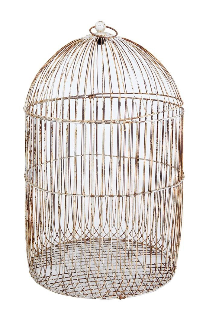 large antique wire frame decorative bird cage for sale at pamono. Black Bedroom Furniture Sets. Home Design Ideas
