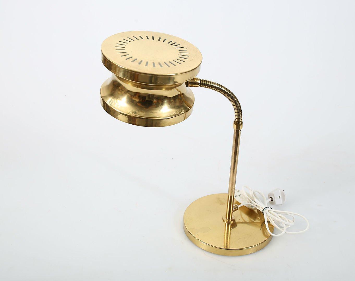 Große Mid-Century Tischlampe aus Messing von Tyringe Konsthantverk, 19...