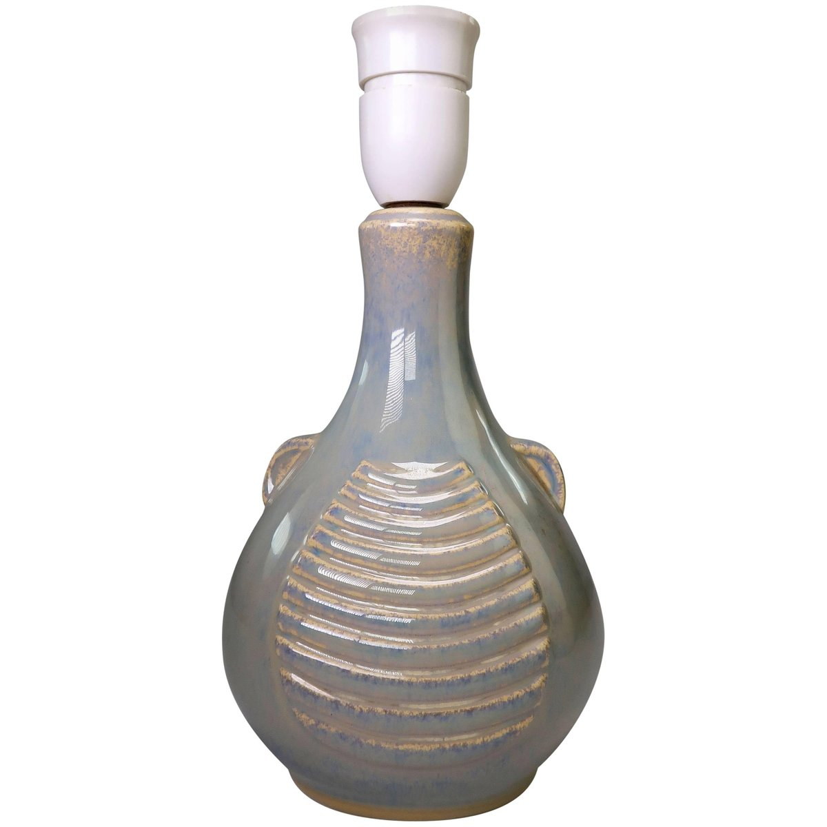 Beige dänische Tischlampe aus Keramik von Einar Johansen für Soholm, 1...