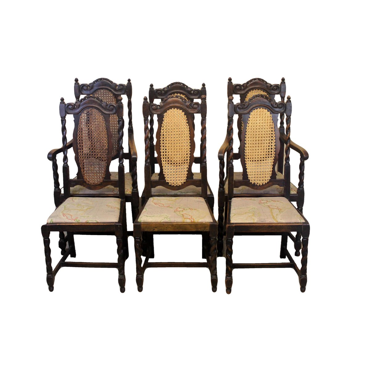 Peachy Antique Oak Dining Chairs Set Of 6 Pabps2019 Chair Design Images Pabps2019Com