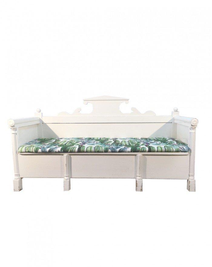 antikes schwedische sofa mit holzgestell bei pamono kaufen. Black Bedroom Furniture Sets. Home Design Ideas
