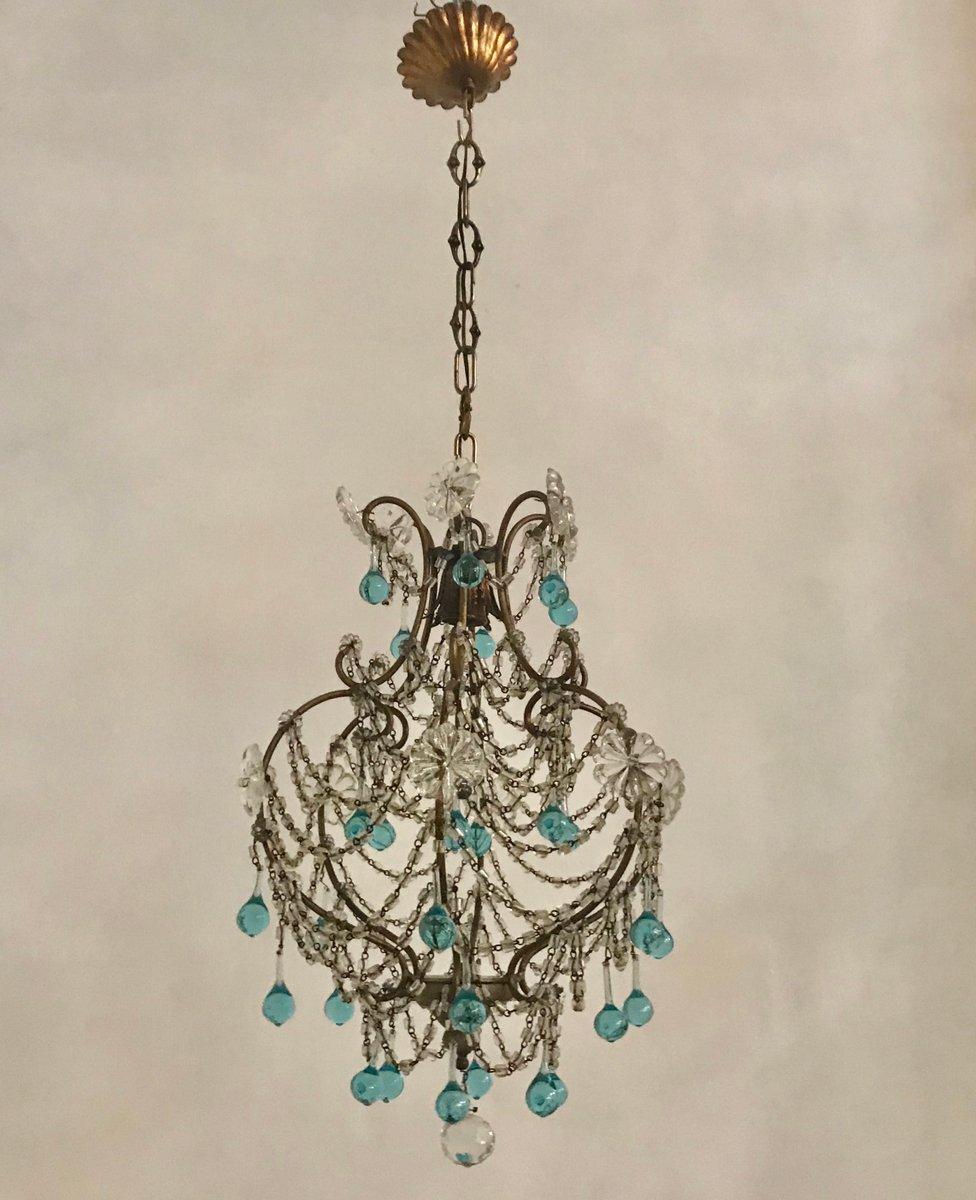 Vintage Kristallglas Murano Hängelampe