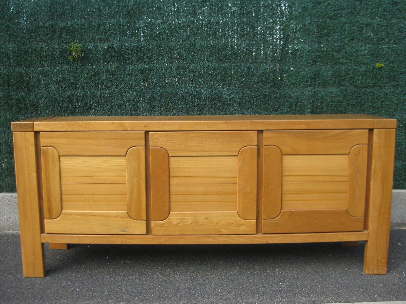Sideboard aus Ulmenholz von Regain, 1980er