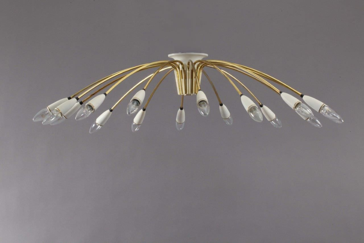 Große italienische Sputnik Deckenlampe, 1950er